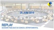 Session du conseil départemental du 26/06/2019