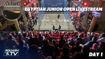Squash: Egyptian Junior Open - Day 1 Livestream