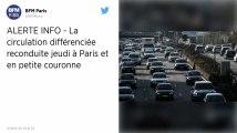 Pollution. La circulation différenciée reconduite à Paris et en Ile-de-France jeudi