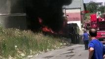 İstanbul Hadımköy'de fabrika yangını