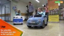 Des voiturettes électriques pour déstresser les enfants  sur la route du bloc opératoire