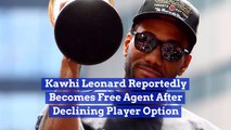 Kawhi Leonard Is Considering His Options