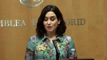 """Ayuso buscará """"el entendimiento"""" entre C's y Vox: """"La izquierda no puede gobernar Madrid"""""""