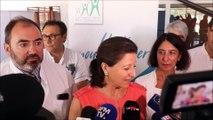 Agnès Buzyn, ministre de la santé, en visite à l'hôpital de Mercy à Metz pour le plan canicule