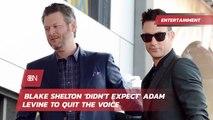 Blake Shelton Comments On Adam Levine Exit