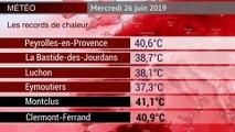 VIDÉO - Records de chaleur et températures remarquables ce mercredi en France (visactu)