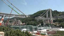 First foundation stone placed for new Genoa bridge