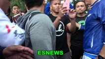 Manny Pacquiao Makes The Day Of A Big Fan - Hears What No One Else Hears