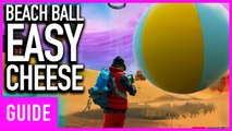 Fortnite - How To Easily Cheese The Beach Ball Bounce Challenge | 14 Days Of Summer Guide