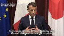 """A Tokyo, Macron ne veut pas """"s'immiscer"""" dans l'affaire Ghosn"""