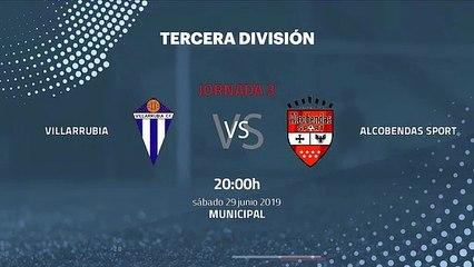 Previa partido entre Villarrubia y Alcobendas Sport Jornada 3 Tercera División - Play Offs Ascenso