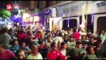 شاهد رقص الجماهير في وسط البلد بين شوطي مباراة مصر والكونغو