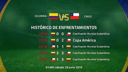 Previa partido entre Colombia y Chile Jornada 1 Copa América