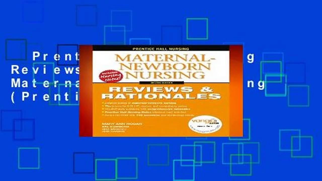 Prentice Hall Nursing Reviews   Rationals: Maternal-Newborn Nursing (Prentice Hall Nursing