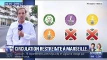 La circulation différenciée est instaurée pour la première fois à Marseille
