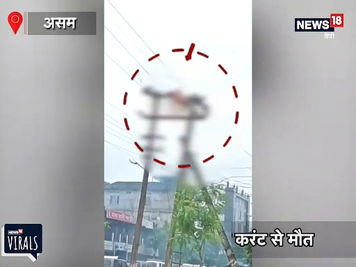 VIDEO: बिजली विभाग कर्मचारी की करंट लगने से दर्दनाक मौत