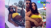 Amy Jackson again flaunts her baby bump; Check Out | Boldsky