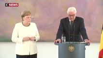 Angela Merkel, une nouvelle fois victime de tremblements