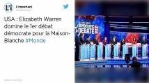 États-Unis : Elizabeth Warren domine le premier débat démocrate pour la Maison Blanche
