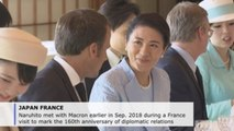 Macron received by Japanese emperor in Tokyo's Imperial Palace