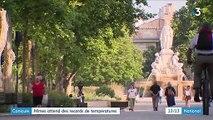 Canicule : À Nîmes, les habitants fuient la chaleur