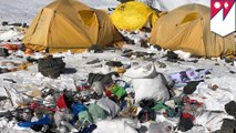 Mt. Everest is turning into a big open toilet and garbage dump
