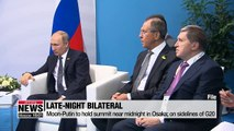 Moon to hold crucial summit with Russia's Putin late Friday night