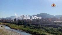 Genova - La demolizione del ponte Morandi (28.06.19)