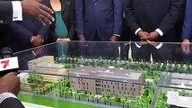 Pose de la première pierre des travaux de construction du Nouveau dispatching de Yamoussoukro financé par l'Union Européenne