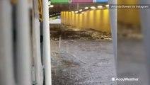Amusement park slammed with torrential flooding