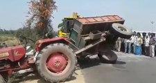Quand le dépanneur rend un accident de tracteur encore pire !