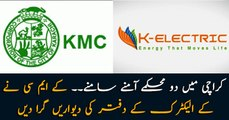 KMC and K-Electric come to blows after KMC demolishes K-Electric's boundary walls