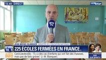 """Jean-Michel Blanquer annonce que """"225 écoles sont fermées en France"""" ce jeudi"""