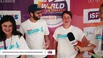 Interview Aline + Steve Mondial scolaire d'ultimate