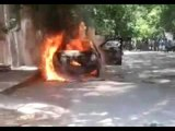 Woman 'burnt' to death in car in Chennai, husband booked