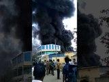 WATCH | Fire engulfs plastic godown in Vijayawada