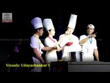Korean artists performing non-verbal comedy show, Cookin' nanta in Vijayawada