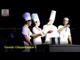 Korean artists performing non-verbal comedy show, Cookin' nanta in Vijayawada