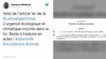 L'Assemblée nationale vote « l'urgence écologique et climatique »