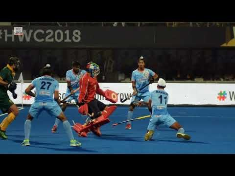Here are some of the best moments from the India vs South Africa match in Men's Hockey World Cup