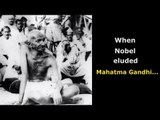 Why did Mahatma Gandhi never receive the Nobel Peace Prize?