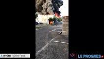 Incendie à Saint-Priest