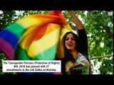 Transgender Protests: Lok Sabha bill stirs protests by Trans community
