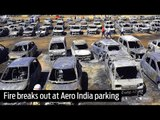 Fire breaks out at Aero India parking area, 300 vehicles gutted
