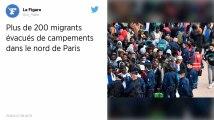 Paris : Plus de 200 migrants évacués de campements dans le nord de la capitale