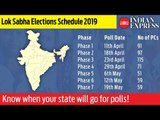 Lok Sabha Elections 2019: Know when your state will go for polls!
