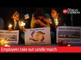 Save Jet Airways! Save Our Future- Employees take out candle march