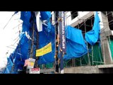 Hyderabad rains: Construction scaffoldings collapse under winds