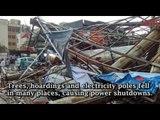 Heavy rains lash Hyderabad, strong winds damage property