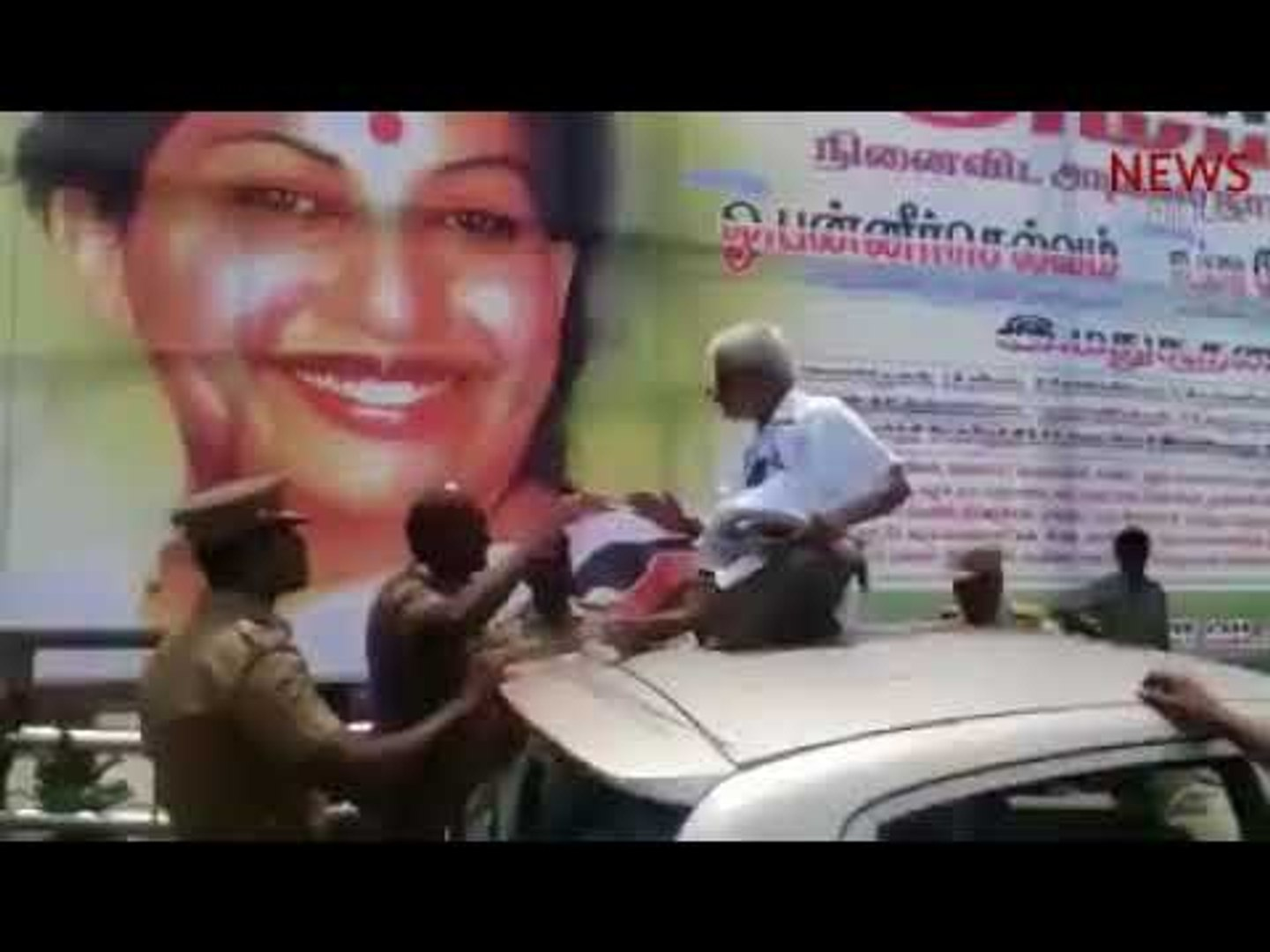 83 yr old Traffic Ramasamy assaulted for protesting AIADMK hoarding, cops watch